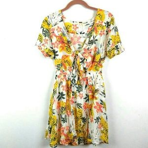 Free People | Floral mini dress size 2